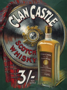 Reklama metalowa 30x40cm - Clan Castle Scotch Whiskies