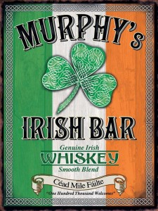 Reklama metalowa 30x40cm - Murphy's Irish Bar